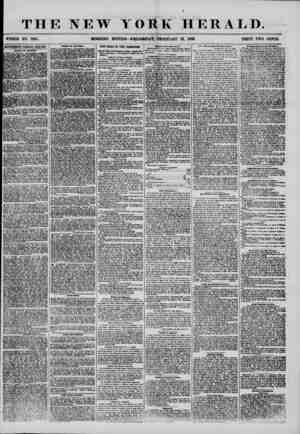 THE NEW TORE HERALD. ' ' ^ ? - V. /.Al' j WHOLE NO. 7107. MORNING EDITION? WEDNESDAY, FEBRUARY 13, 1856. PRICE TWO CENTS....
