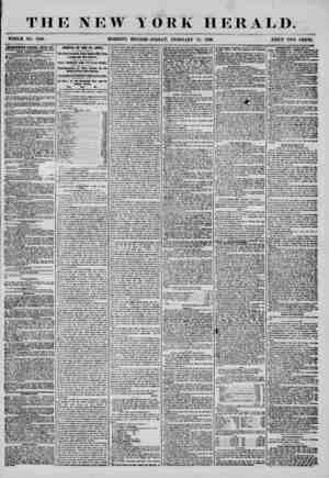 THE NEW WHOLE NO. 7199. MORNING YORK HERALD. EDITION-FRIDAY, FEBRUARY 15, 1868. PRICE TWO CENTS. ABfESTISEMENTS RENEWED ETi&Y