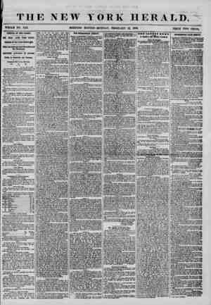 i THE NEW YORK HERALD. WHOLE NO. 7112. MORNING EDITION-MONDAY, FEBRUARY 18, 1856. PRICE TWO CENTS. ARRIVAL OF THE CANADA* ONE