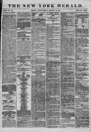THE NEW WHOLE NO. 7116 * MORNING YORK HERALD. EDITION-FRIDAY, FEBRUARY 22, 1856. ~ PRICE TWO CENTS. WASHINGTON'S BIRTHDAY. 9