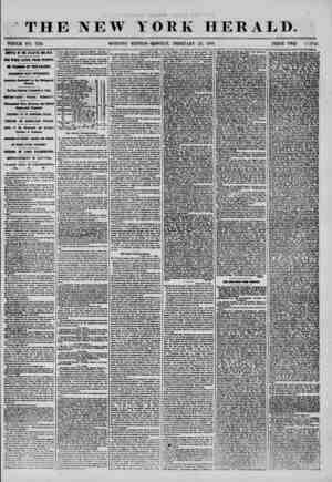 THE NEW TORE HERALD. WHOLE NO. 7119. MORNING EDITION-MONDAY, FEBRUARY 25, 1856. PRICE TWO C I MS. ARRIVAL OF THE ATLANTIC AND