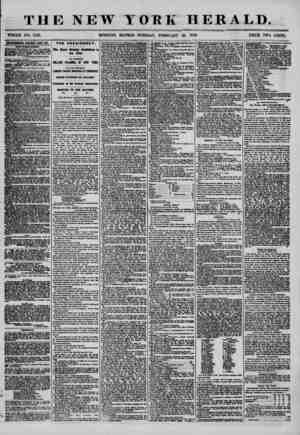 THE NEW YORK HERALD. WHOLE NO. 7120. MORNING EDITION? TUESDAY, FEBRUARY 26, 1856. PRICE TWO CENTS. ADVERTISEMENTS RENEWED...
