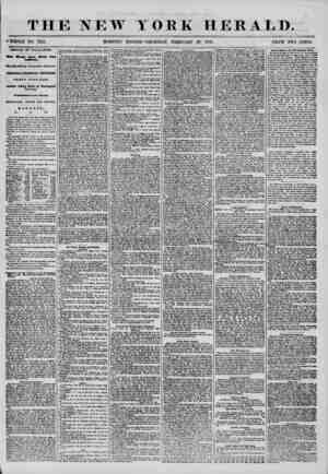 T HE NEW YORK ?WHOLE NO. 7122. HERALD. 28, 1856. PRICE TWO CENTS. ARRIVAL OF THE ILLINOIS. fvo Weeks Later News from...