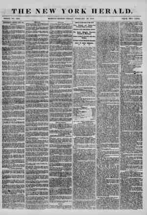 THE NEW YORK HERALD. WHOLE NO. 7123. MORNING EDITION-FRIDAY, FEBRUARY 29, 1858. PRICE TWO CENTS. ADVERTISEMENTS RENEWED EVEIY
