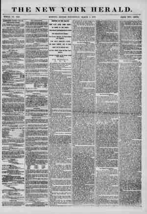 THE NEW Y WHOLE NO. 7129. MORNING EDITION ORK HERALD. WEDNESDAY, MARCH 5, 1856. PRICE TWO CENTS. ADVERTISEMENTS RENEWED MERY