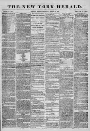 THE NEW Y WHOLE NO. 7136. MORNING EDITION OEK HERALD. THURSDAY, MARCH 13, 1856. PRICE TW 0 CP MS. IBTBKTISEMENTS RhUKWKli...