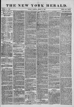 THE NEW YORK HERALD. WHOLE NO. 7139. SUNDAY CORNING, MARCH 16, 1856. PRICE TWO CEJTlS. ARRIVAL OF THt GEORGE LAW. Otf Million