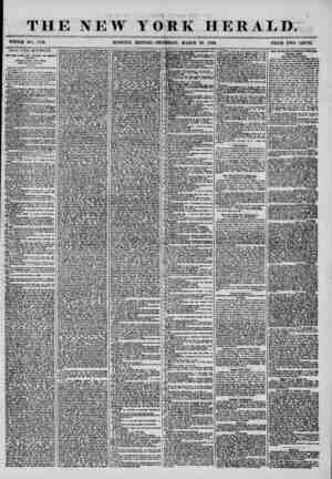 THE NEW TO WHOLE NO. 143. K HERALD. MARCH 20, 1856. PRICE TWO CENTS. SUIT FOR DIVORCE. t Tfc? Cms of -the tUiv Kirmurd Vox