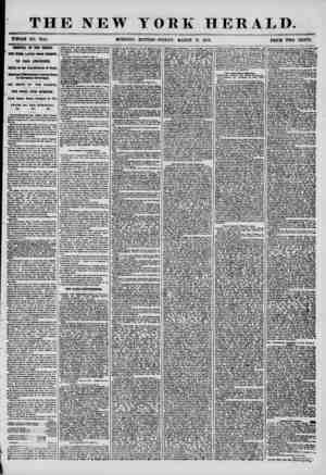 THE NEW WHOLE NO. 7144. MORNING YORK HERALD. EDITION? FRIDAY, MARCH 21, 1858. PRICE TWO CENTS. ARRIVAL OF THE PERSIA. I ONE