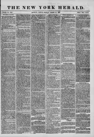 """THE NEW YORK HERALD. ?WHOLE NO. 7147. MORNING EDITION-MONDAY, MARCH 24, 1856. PRICE TWO CENTS. ' """" ' ? Til CHIEF OP POLICE."""