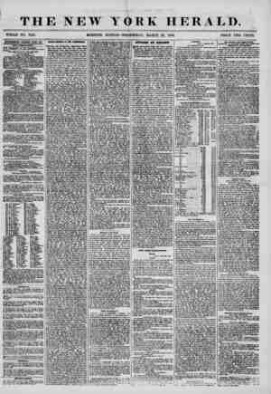 THE NEW YORK HERALD. WHOLE NO. 7149. MORNING EDITION-WEDNESDAY, MARCH 26, 1856. PRICE TWO CENTS. ADVERTISEMENTS RENEWED EFERY
