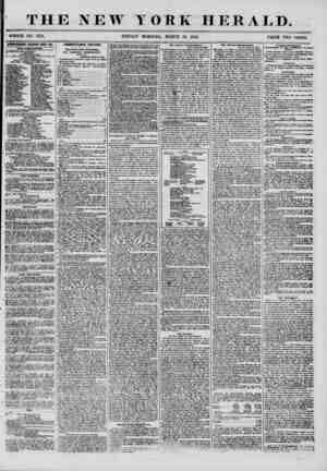 """W YORK HERALD. ' WHOLE NO. 7153. SUNDAY MORNING, MARCH 30, 1856. r""""~ ?"""" PRICE TWO CENTS. IDVERTISKMENTS RENEWED ETERY DAT."""