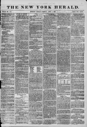 THE NEW WHOLE mo. 7155. MORNING YORK HERALD. EDITION? T[7fegJ>AY, APRIL 1, 1858. J*/*.- V ~ / < PRICE TWO CBNT3. V ** i \...