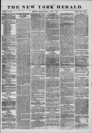 THE NEW YORK HERALD. * f 4 * ' WHOLE NO. 7158, MORNING EDITION? FRIDAY, APRIL 4, 1856. PRICE TWO CENTS. lOTliBflSEMENTS...