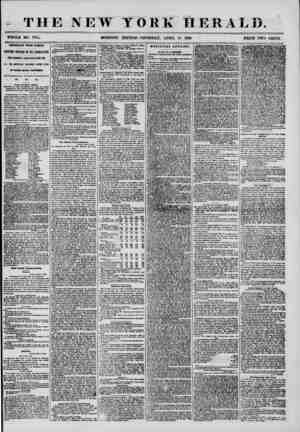 THE NEW YORK 11 R R A I,T>. WHOLE NO. 7164. MORNING EDITION? THURSDAY, APRIL 10, 1856. ? PRICE TWO CENTS IMPORTANT FROM...