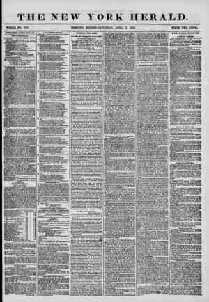 THE NEW YORK HERALD. WHOLE NO. 7166. MORNING EDITION-SATURDAY, APRIL 12. 1856. PRICE TWO CENTS. ADVERTISEMENTS RENEWED EVERY