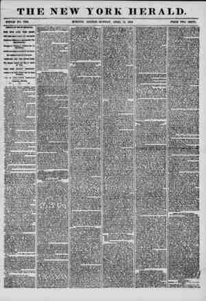 THE NEW YORK HERALD. WHOLE NO. 7168. MORNING EDITION-MONDAY, APRIL 14, 1856. PBIOB TWO CENTS. A* RIVAL OF TDK WASHING TOM.