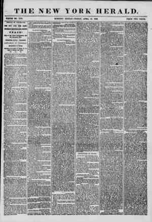 THE NEW YORK HERALD. WHOLE NO. 7172. MORNING EDITION-FRIDAY, APRIL 18, 1856. PRICE TWO CENTS. ARRIVAL OF THE BALTIC. fOUR...