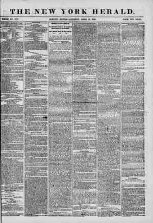 THE NEW YORK HERALD. WHOLE NO 7173. MORNING EDITION-SATURDAY, APRIL 19, 1856. PKICE TWO CENTS. UTEETI8BMESTS BttNfcWKD Efh.J