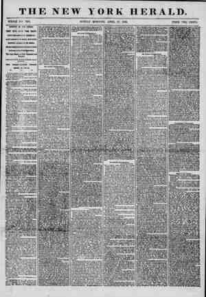 THE NEW YORK HERALD. WHOLE NO. 7174. SUNDAY MORNING, APRIL 29, 1856. PRICE TWO CENTS. ARRIVAL OF TiTK AFRICA. ?THREE DAYS...