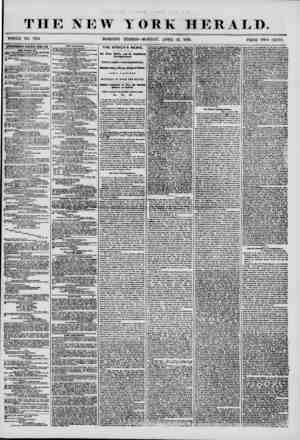 THE NEW YdRK HERALD. WHOLE NO. 7175. MORNING EDITION-MONDAY, APRIL 21, 1856. PRICE TWO CENTS. ADVERTISEMENTS RENEWED EVERY