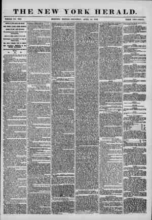 THE NEW YORK HERALD. WHOLE NO. 7178. MORNING EDITION-THURSDAY, APRIL 24, 1856. PRICE TWO'.CENTS. ARRIVAL OF THE ARA60 AND...