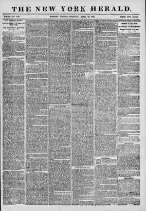 THE NEW YORK HERALD. WHOLE NO. 7180. MORNING EDITION-SATURDAY, APRIL 26, 1856. PRICE TWO CENTS. THE ARABIA'S HAILS. intf...