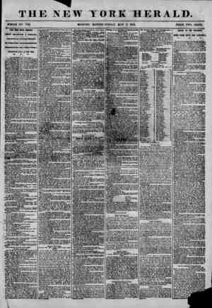 THE NEW YORK HERALD. ; 1 1 , . . , ? ? ... ? ? ? ? i * ? ? ? ? WHOLE NO. T186. MORNING EDITION-FRIDAY, MAY 2, 1856. PRICE TWO
