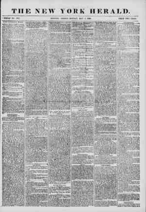 """THE NEW YORK HERALD. """"WHOLE NO. 7189. MORNING EDITION-MONDAY, MAY 5, 1856. PRICE TWO CENTS. ANNIVERSARY WEEK. AMERICAN FEMALE"""