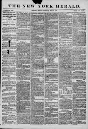 THE NEW YORK HERALD. WHOLE NO. 7)92. MORNING EDITION-THURSDAY, MAY 8, 1856. PRICE TYO CENTS. ARRIVAL OF THE NORTH AMERICA AT