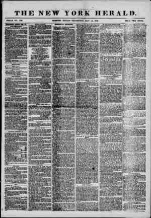 3110 ? THE NEW YORK HERALD. WHOLE NO. 7198. . MORNING EDITION?WEDNESDAY, ? MAY 14, 1856. PRICE TWO CENTS. umrosaam iuiwii imi