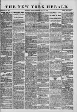 THE NEW YORK HERALD. WHOLE NO. 7199. MORNING EDITION?THURSDAY, MAY 15, 1856. PRICE TWO CENTS. ammmm rnsm btert say. (1W...