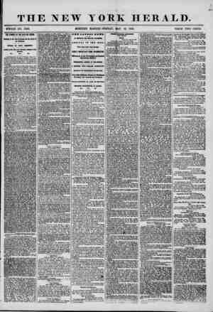 THE NEW YOKE HERALD. WHOLE NO. 7200. MORNING EDITION?FRIDAY, MAY 16, 1856. PRICE TWO CENTS. THE FAMINE AT THE CAPE DE VERDS,