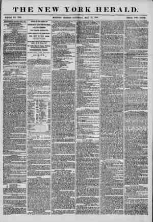 THE NEW YORK HERALD. WHOLE NO. 7201. MORNING EDITION?SATURDAY, MAY 17, 1856. PRICE TWO CENTS. ADVERTISEMENTS RENEWED EVERY