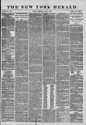 THE NEW YORK HERALD. WHOLE NO. 7202. SUNDAY MORNING, MAY 18, 1856. PRICE TWO CENTS. ADVERTISEMENTS RENEWED EVERT DAT....