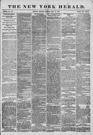 """THE NEW YORK HERALD. WHOLE NO. 7211 """" MORNING EDITION?TUESDAY, MAY 27, 1856. PRICE TWO CENTS. mtwi r&OM ZANUB, The Town of"""