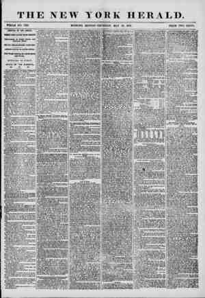THE NEW YORK HERALD. WHOLE NO. T213. MORNING EDITION-THURSDAY, MAY 29. 1856. PRICE TWO CENTS. ARRIVAL OF THE AFRICA. THREE