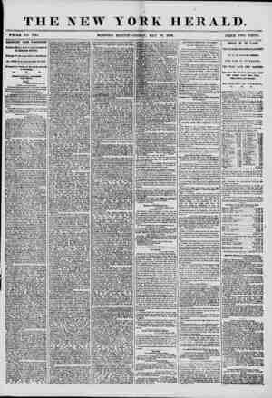 THE NEW YORK HERALD. ' WHOLE NO. 7214 MORNING EDITION-FRIDAY, MAY 30. 1856. PRICE TWO CENTS. IMPORTANT I ROM WASHINGTON....
