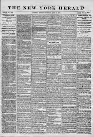 THE NEW YORK HERALD. WHOLE NO. 7220 MORNING EDITION-THURSDAY, JUNE 5, 1856. PRICE TWO c/OTS THE PRESIDENTIAL CAMPAIGN....