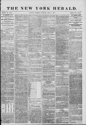 W YORK HERALD. WHOLE NO. 7222 MORNING EDITION-SATURDAY, JUNE 7. 1856. PRICE TWO CENT THE CAMPAIGN OF 1355. Dominations of the