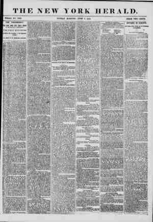 THE NEW YORK HERALD. WHOLE NX). 7223 SUNDAY MORNING, JUNE 8, 1856. PRICE TWO CENTS. THE PRESIDENCY. ItHE NEW YORK CITY DAILY