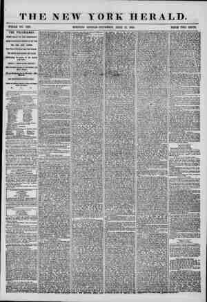 THE NEW YORK HERALD. WHOLE NO. 7227. MORNING EDITION-THURSDAY, JUNE 12, 1856. PRICE TWO CENTS. THE PRESIDENCY. # FIRST RALLY