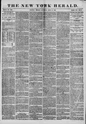 E NEW YORK HERALD. WHOLE NO. 7229. MORNING EDITION?SATU1DAX, JUNE 14, 1856. PRICE TWO CENTS. 4 1 ARRIVAL OF THE GEORGE LAW.
