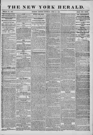 """THE NEW YORK HERALD. """"WHOLE NO. 7234. MORNING EDITION-THURSDAY, JUNE 19, 1856. PRICE TWO CENTS. ARR1YAL OF THE AMERICA AT..."""
