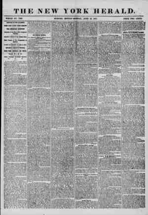 THE NEW YORK HERALD. WHOLE NO. 7238. MORNING EDITION-MONDAY,, JUNE 23, 1856. PRICE TWO CENTS. ARRIVAL OF THE ATLANTIC. FOUR