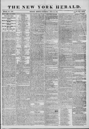 """THE NEW YORK HERALD. WHOLE NO. 7240. MORNING EDITION?WEDNESDAY, JUNE 2-5, 1856. FRil0? TW""""? CENTS MILLARD FILLMORE IN THE..."""