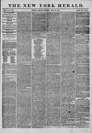 THE NEW YORK HERALD. WHOLE NO. 724L MORNING EDITION?THURSDAY, JUNE 26, 1856. PRICE TWO CENTS. THE PRESIDENCY. raEKONT AND...