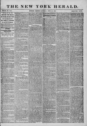 THE NEW IORK HERALD. WHOLE NO. 72?3. MORNING EDITION-SATURDAY, JUNE 28, 1856. PRICE TWO CENTS. ARRIVAL OF THE ASIA. IMPORTANT