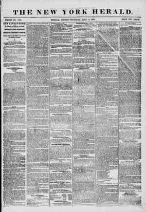 THE NEW WHOLE NO. 7248. YORK HERALD. EDITION-THURSDAY, JULY 3, 1856. PRICE TWO CENTS. fBI IATBIS V1WI, ?V MAGNETIC AND...