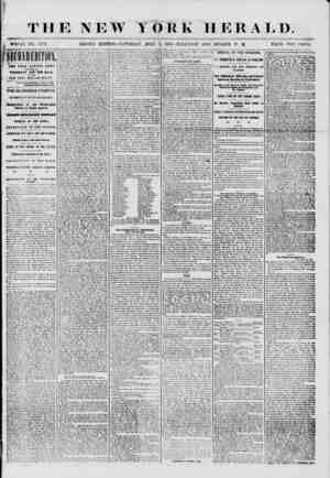 THE NEW YORK HERALD. ^ WHOLE NO. 7249. SECOND EDITION? SATURDAY, .JULY 5. 1856 ? HALF-PAST ONE O'CLOCK P. M. PRICE TWO CENTS
